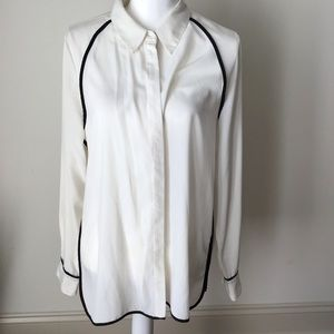 Vince Camuto White and Black Button Down